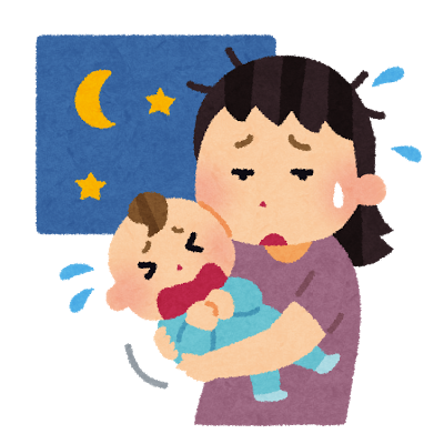 泣く赤ちゃん歩けと要求